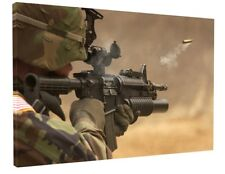 MODERN WARFARE SOLDIER CANVAS PICTURE PRINT WALL ART CHUNKY FRAME LARGE 1498-2