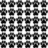 Pfoten, Cat, Dog, Hundepfoten, Katzenpfoten Aufkleber Sticker 36 Stück in 3X3cm!