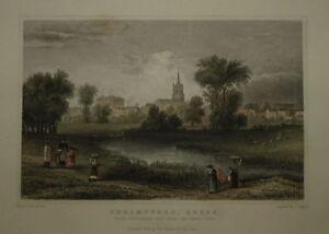 CHELMSFORD, ESSEX 1831. GENUINE ANTIQUE PRINT .