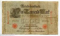 ALLEMAGNE - 1910, BILLET 1000 MARK rouge, RED SEAL, GERMANY