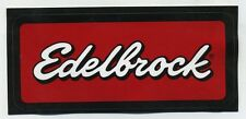 hotrod Edelbrock sticker drag race speed shop equipment ram kustom valve cover