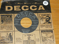 "ROCK & ROLL 45 RPM - BILL HALEY - DECCA 30085 - ""RUDY's ROCK""+""BLUE COMET BLUES"""