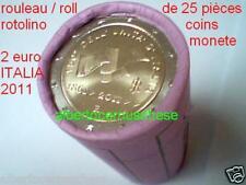 25 x 2 euro 2011 ITALIA 150 anni italie italien italy Италия Włochy roll rotolin