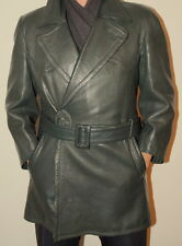 Men's Post WW2 German 50's Motorcycle Bike Leather Jacket Coat 48 / UK 40 / Med