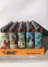 """50 Bic limited edition """"Chill Out"""" Large Bic Lighter J26"""