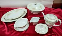 Craftsman CRF3 Dinnerware 10 Serving pieces Covered Vegetable Bowl, Platters, ++