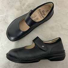 Finn Comfort Black Laval Leather Mary Jane Shoes Womens Size 39