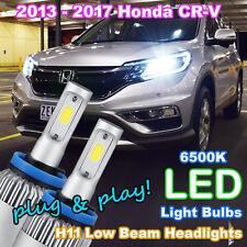 2013-2017 HONDA CR-V CRV LED Headlight Upgrade Kit (Pair of H11 6500K LED Bulbs)