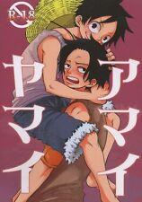One Piece YAOI Doujinshi ( Ace x Luffy ) Amaiyamai, Omame, Makoto Imada
