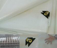 Clear Tarp 14' X 14' 14 mil Clear Greenhouse Tarp, Uv Resistant Fiber Reinforced