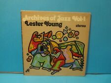 LESTER YOUNG ARCHIVES OF JAZZ VOL 1 AJ-501 (1972) JAZZ SAXOPHONE RECORD LP