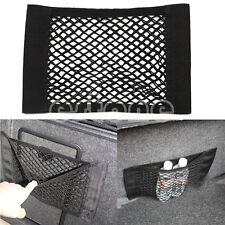Car Back Rear Trunk Seat Elastic String Net Mesh Storage Bag Pocket Cage Black