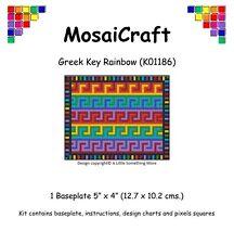 "Mosaicraft Pixel Craft Mosaïque Kit ""grec clé Rainbow"" pixelhobby"