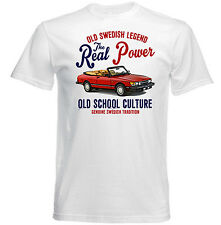 VINTAGE SWEDISH CAR SAAB 900 TURBO CONVERTIBLE - NEW COTTON T-SHIRT
