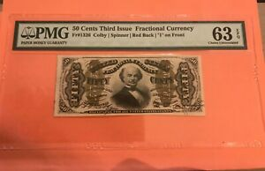 50c. Third issue fractional currency, FR-1326 ,Choice uncirculated. PMG 63 EPQ