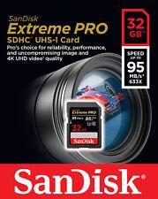 SanDisk 32GB SD Extreme Pro 95MB/s U3 4K V30 UHS C10 32G SDHC SDSDXXG-032G