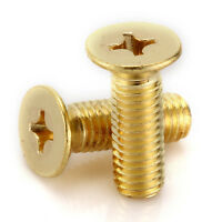 M4 M5 M6 Brass Countersunk Machine Screw / Csk Bolts DIN 965Z