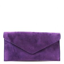 Womens Ladies Real Suede Leather Envelope Clutch Evening Shoulder Chain Bag
