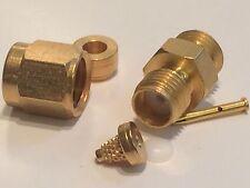 Cable Mount Sma Hembra Para rg178 rg196 Mini Coaxial por Itt Cannon ad2z8