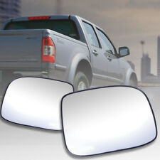 GLASS LENS SIDE WING MIRROR PAIR FOR ISUZU D-MAX DMAX 2002 03 05 2006