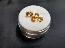 NEW Natural Citrine Cut and Polished 5 x 3cm Oval Parcel of 4 Total 4.95 ct