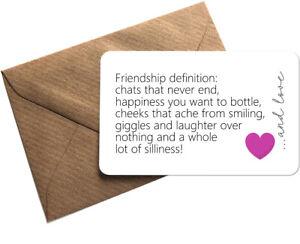 Friendship Definition Metal Wallet Purse Card Sentimental Keepsake Gift Bestie