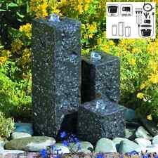 GRANIT Springbrunnen Mini-Wasserspiel Set mit LED-Beleuchtung Gartenbrunnen