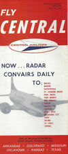 Central Airlines system timetable 4/29/62 [0098]