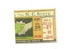 9/20/58 North Carolina vs. N. C. State football ticket stub