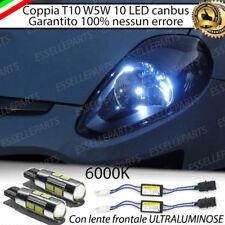 COPPIA LUCI DI POSIZIONE 10 LED FIAT PUNTO EVO T10 W5W CANBUS ULTRALUMINOSI