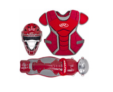 New Rawlings Renegade Baseball Catcher Senior Equipment Set ages 12 to adult Red