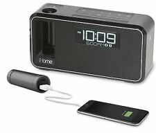iHome Bluetooth Wireless Alarm Clock Radio Charge USB Dock Docking FM Speaker