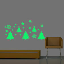 DIY Glow In The Dark Christmas Tree Snowflake Luminous PVC Wall Sticker Kids