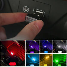 3pcs Flexible USB Mini LED Car Interior Light Neon Atmosphere Ambient Lamp Bulb