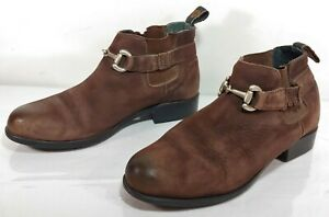 ARIAT Snaffle ATS Women's Sz 6.5 M Brown Leather Suede Horsebit Ankle Boots