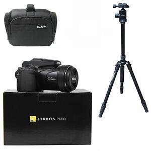 Nikon COOLPIX P1000 + KamKorda Camera Bag + Tripod - UK NEXT DAY DELIVERY