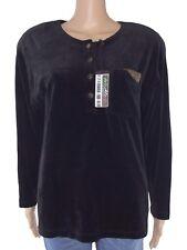 unica blusa maglia velluto nero vintage made italy pochette taglia xl extralarge