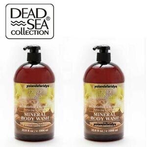 2 X Almond Vanilla Body Wash with Natural Dead Sea Minerals 1000 ml Each