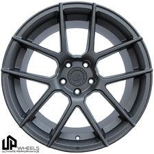 UP520 19x8.5/9.5 5x120 Matte Gunmetal ET15/22 Wheels fits bmw 645 650 745 750