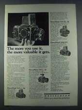 1981 Hasselblad 500 C/M, SWC/M, 500 EL/M Camera Ad