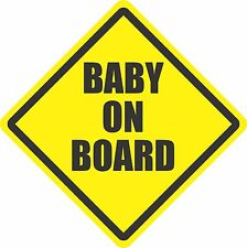 Baby On Board Bumper Sticker Decal Safety Cute Funny Hangover Signs Window bV
