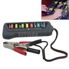 Digital LED Battery Alternator Tester 12V 15A For Motorcycle Cars Trucks SU New