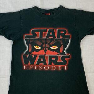 Vintage Star Wars T Shirt Episode 1 Movie Promo Tee Single Stitch Youth XL 90s