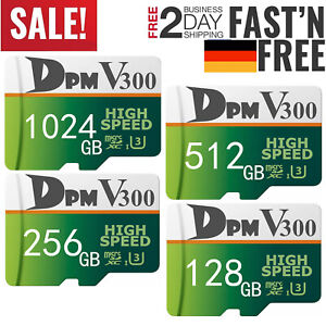 Micro SD Speicherkarte 64GB 128GB 256GB 512GB 1TB Memory Card 4K Full HD Class10