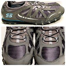 EUC!! SKECHERS Slip On Bikers Carry On Shoes 22406EWR Bungee SIZE 9 Women's Gray