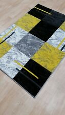 Modern Medium Large Black Grey Tartan Rugs Harlequin Carpet Mat Runner Ne Online 70x300cm