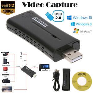 HD 720P USB 2.0 HDMI Monitor Video Capture Converter Card Adapter w/ Driver CD