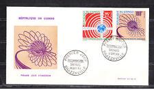 Congo  enveloppe  1er jour  télécommunications spaciales     1963