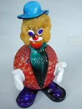 Murano  Italian  Art  Glass  Colourful Clown Figure w  Original Label 1950's