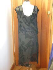 ALL SAINTS WOMENS BLACK devore'KELSO LUX' DRAPED DRESS *UK 10 BNWT *RRP £168*